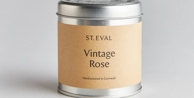 Vintage Rose Scented St. Eval Tin Candle