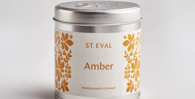Amber, Folk Scented St. Eval Tin Candle