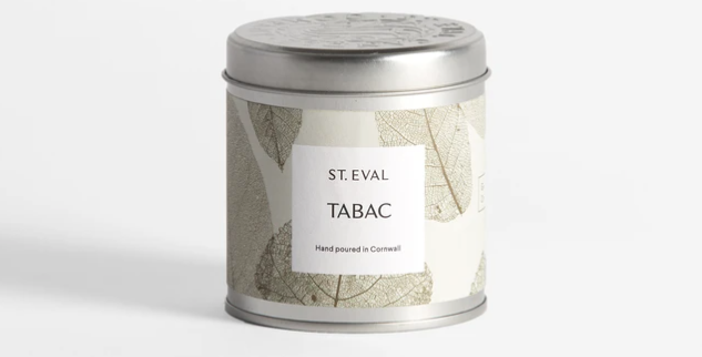Tabac, Eden Scented St. Eval Tin Candle