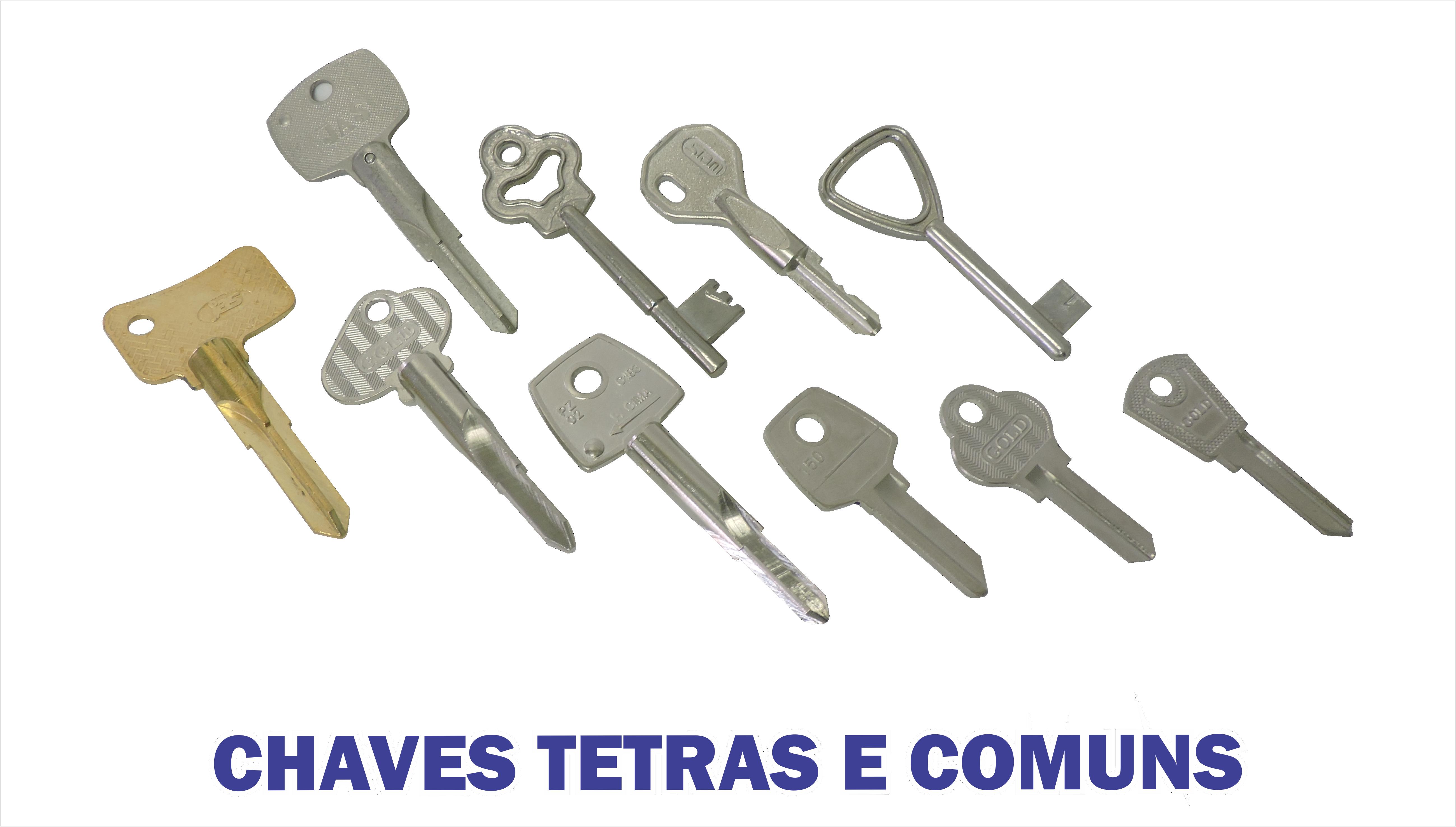 CHAVES TETRAS E COMUNS