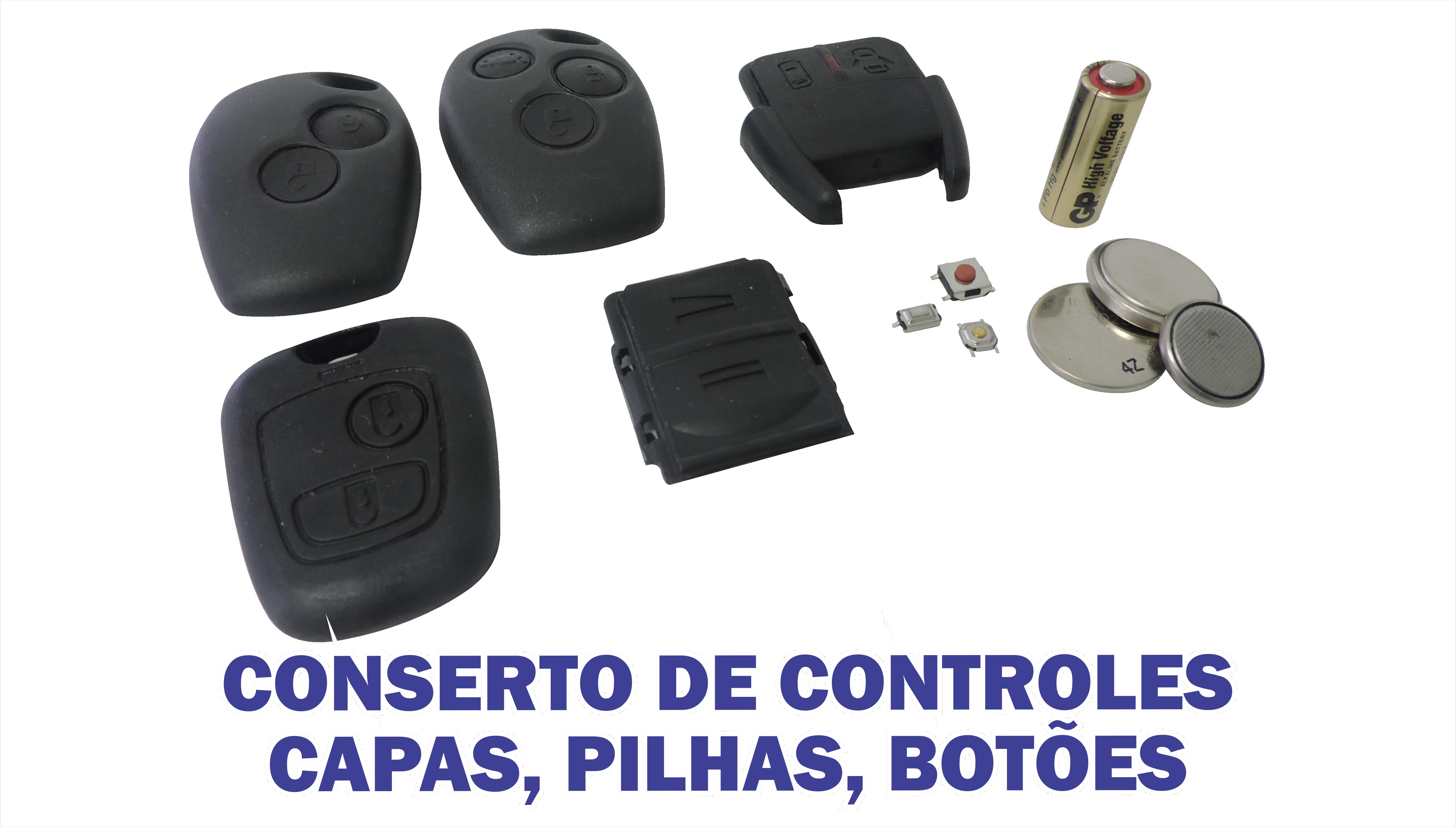CONSERTO DE CONTROLES CAPAS PILHAS BOTOES