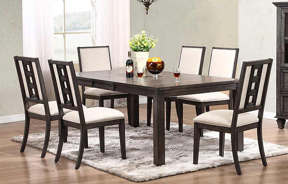 "Lancaster 82""  Dining Table Set(7 Pc)"