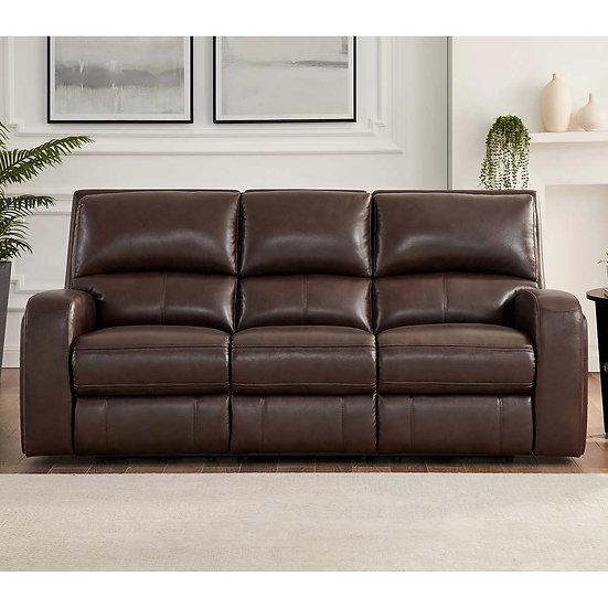 Roman Top-grain Leather Modern Power Reclining Sofa