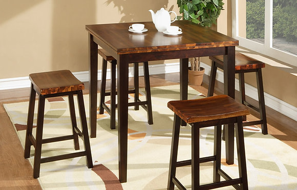 Acacia Pub Table 5Pc. Set