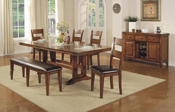 "Mango 92"" Dining Table Set (6 Pc)"
