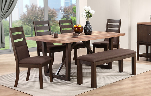 "Venice 72"" Dining Table Set (6 Pc)"