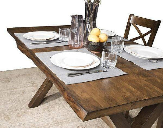 "Live Edge 60"" Dining Table Set (6 Pc)"
