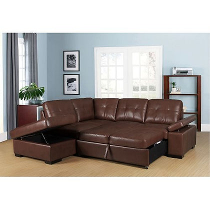 Candace Sleeper Sectional Brown