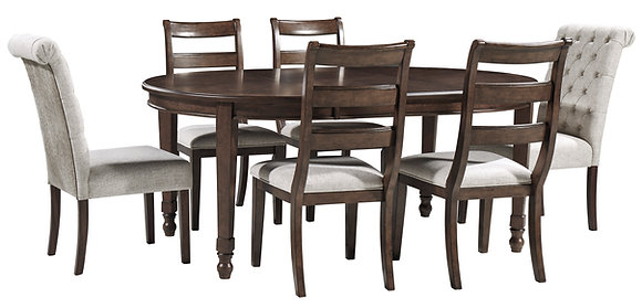 ADINTON DINING TABLE SET (7 PC)