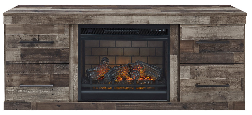 DEREKSON LG TV Stand w/Fireplace Option