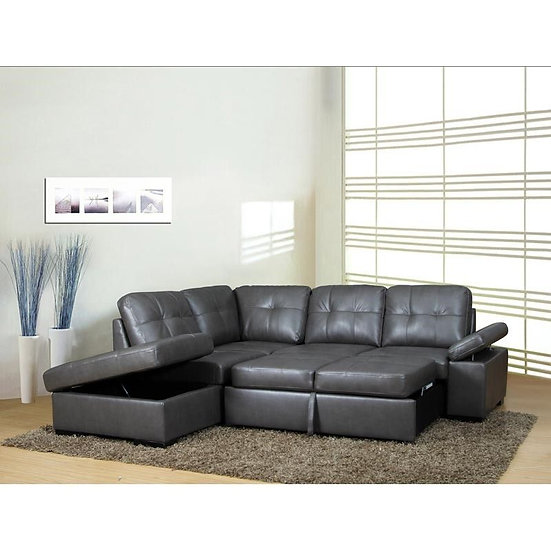 CANDACE SLEEPER SECTIONAL GREY