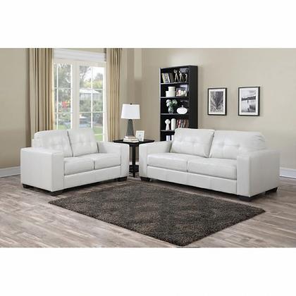 Metro White Sofa