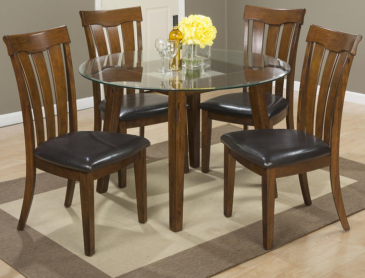 PLANTATION 5 PIECE ROUND DINING TABLE SET