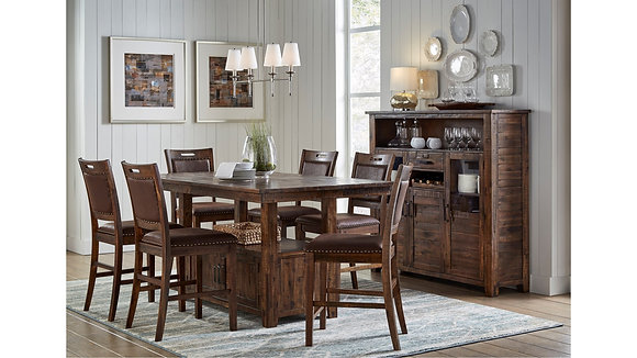 CANNON VALLEY HIGH/LOW DINING TABLE SET(6 PC)