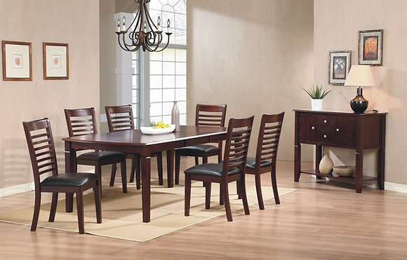 Santa Fe 42 X 78 Leg Table Set (7 Pc)