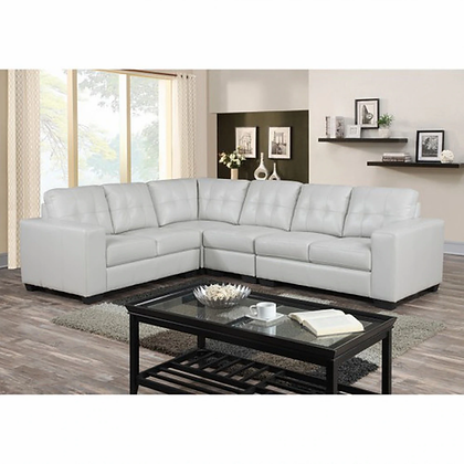Metro White Sectional
