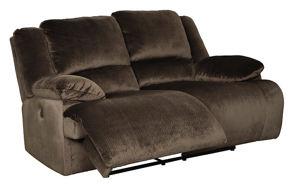 Clonmel Brown Reclining Loveseat