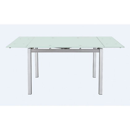 Frosty Glass Dining Table With Extension Leafs