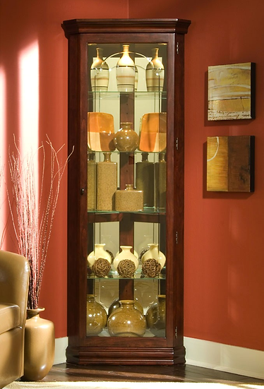 Victorian Mirrored Corner Curio