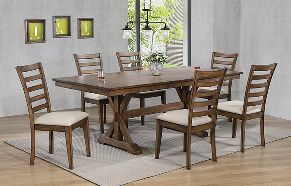 """Newport 78""""Dining Table Set (7Pc)"""