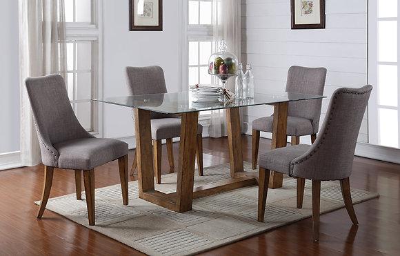 "Capri 70"" Glass Top  Dining Table"