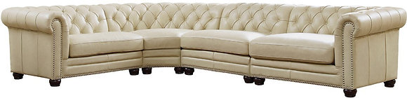 Kennedy 4-Piece Leather Sectional