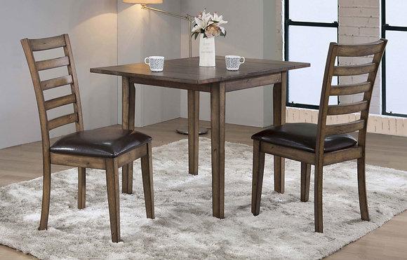 "Newport 46"" Leg Table W/ 2 X 8"" Drop Leaves(5 Pc)"