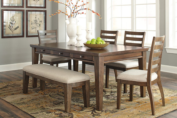 Flynnter Dining Table Set (6 Pc )