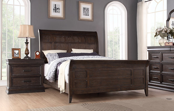 SONOMA KING SLEIGH BED