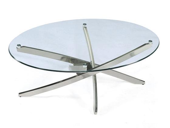 Brushed Nickel Coffee Table