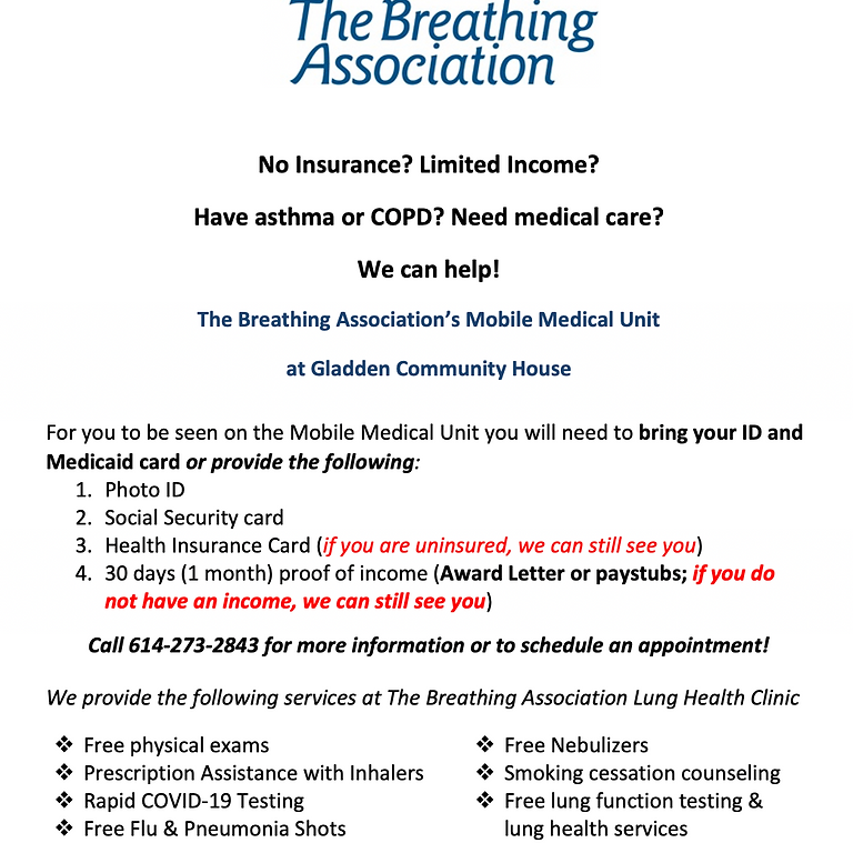 The Breathing Association Lung Health Clinic Mobile Medical Unit