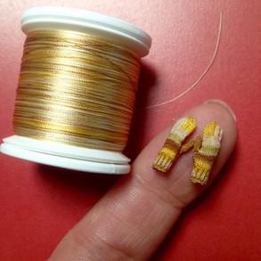 Variegated Gloves-Gold