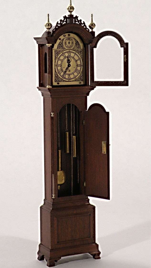 Elnathan Taber tall case clock, with working locks