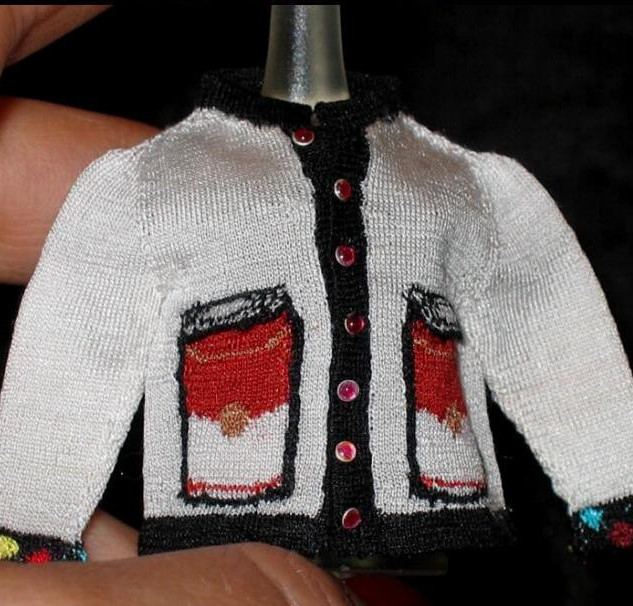 Pop Art Cardigan (Warhol I), front view