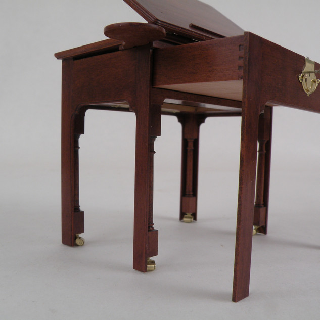 English Architect's Table, doric columns and dovetails