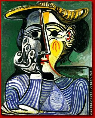 Woman in a Yellow Hat, Picasso
