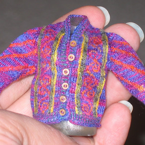 Celtic Cardigan, Early version (front view)