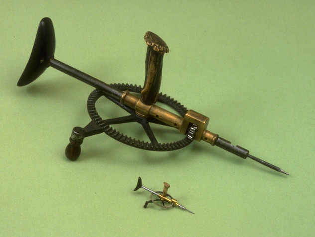Breast Drill, 1/5th scale, w/original, bronze, steel, ebony, rosewood, deer antler, 2000