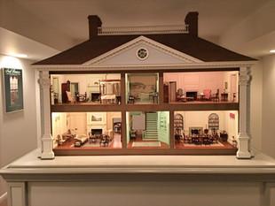 Twin Manors, a pair of miniature American Georgian houses, 1981-1989