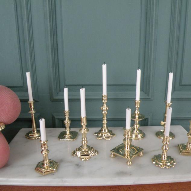 17-18th century candlesticks, brass 2010