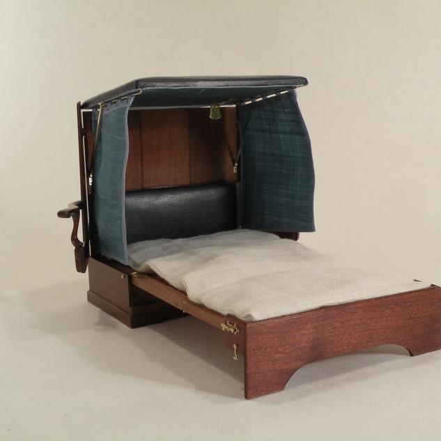 George II Metamorphic Bed, seat becomes headboard