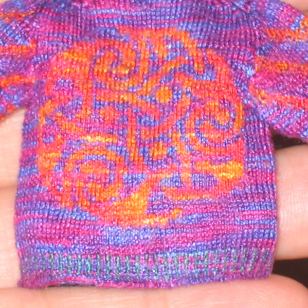 Celtic Cardigan, Early version (back view)