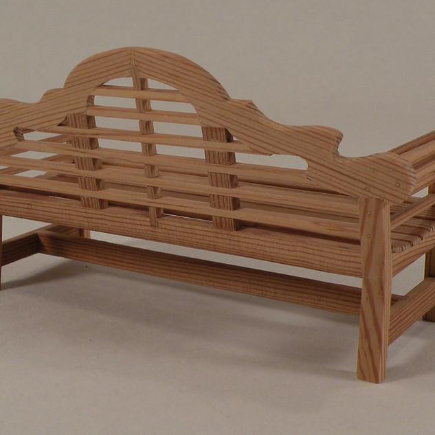 Chippendale Garden Bench, back