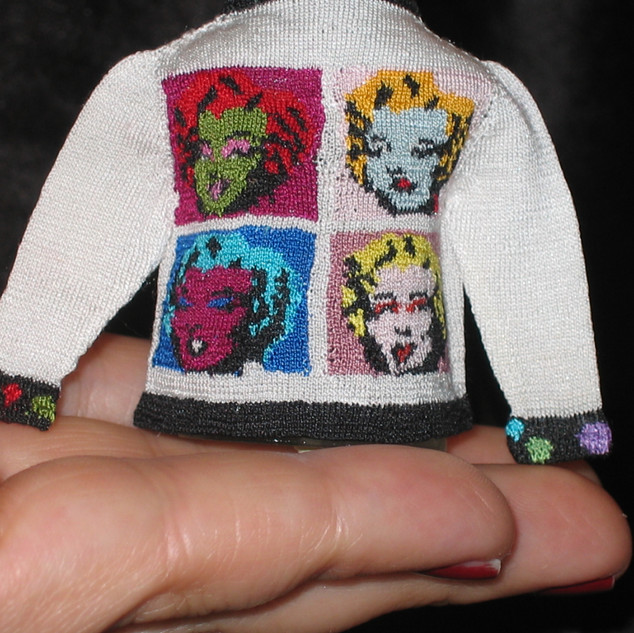 Pop Art Cardigan (Warhol I) 2007, Back View