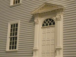 Twin Manors, rear door, almost never seen in public