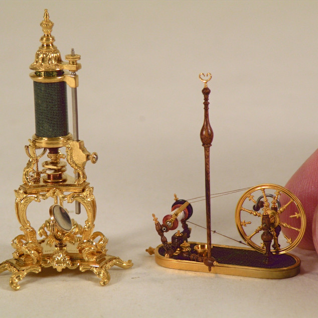 Microscope and Spinning Wheel