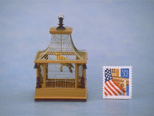 Birdcage, pearwood, nickel, ebony, 1995