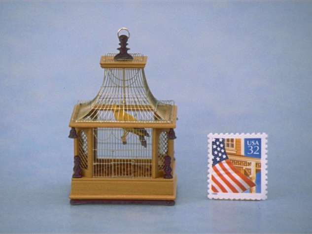 Birdcage, pearwood, nickel, ebony, 1995
