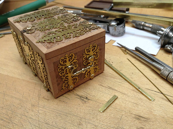 l 17th c. Dutch Strong Box, side handles