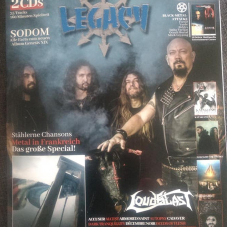 Legacy magazine with BRUTAL KRAUT interview, review and new song on sampler OUT NOW!